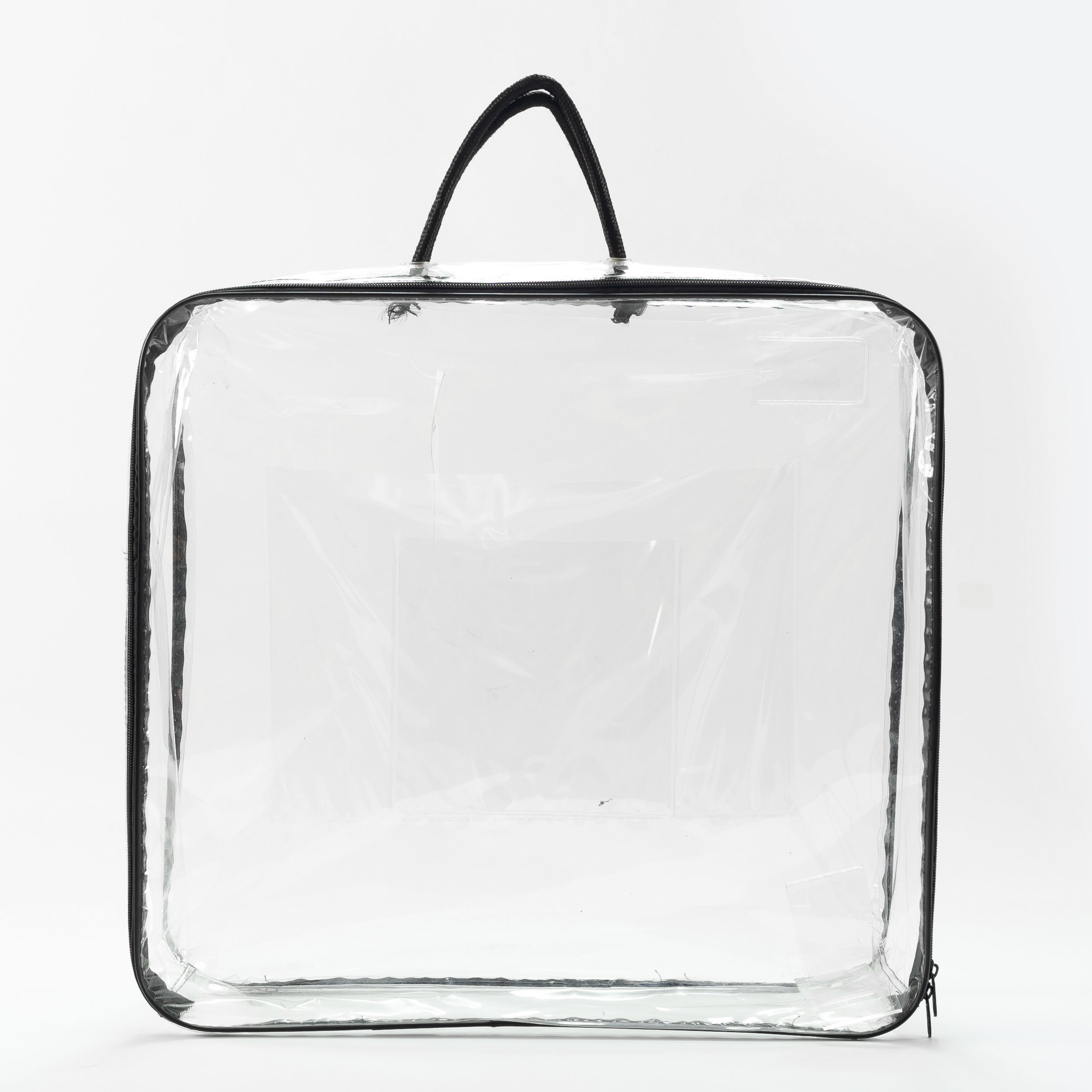 Clear PVC Wire Bag With Zipper For Blanket and Quilt