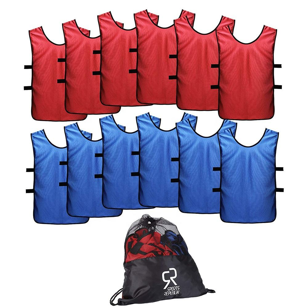 Hot sale custom printing soccer training vests child