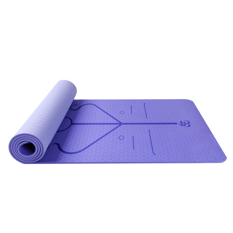 Suede Yoga Mat [ Yoga Mat Tpe ] Tpe Yoga Mat Vegan Suede 2 Color Tpe Fitness Exercise