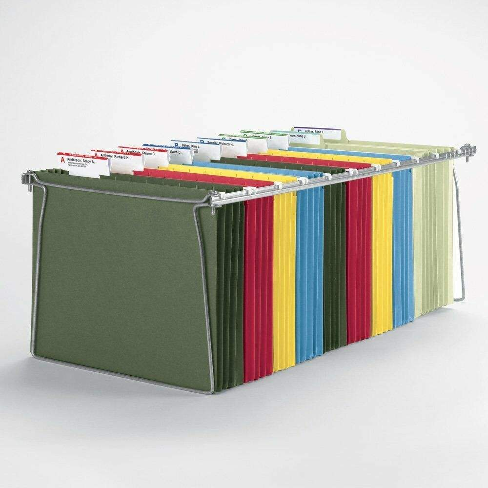 Stationary Office FC A4 Plastic Tabs and Blank Inserts Colored Custom Hanging File Folder Organizer