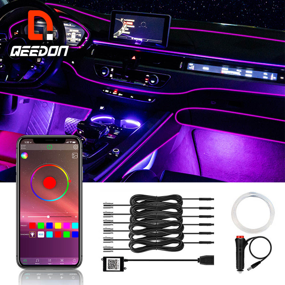 neon led strip light truck custom flexible led lights for car interior chasing smartphone control car led strip light