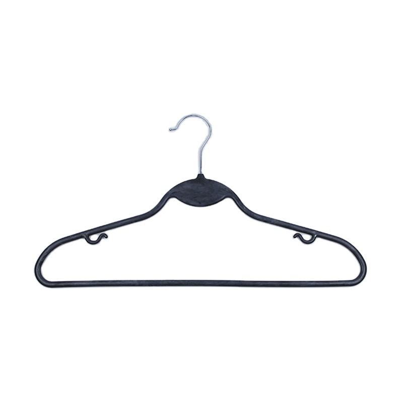 Wet and dry dual use customer loge used standard size clothes plastic hanger
