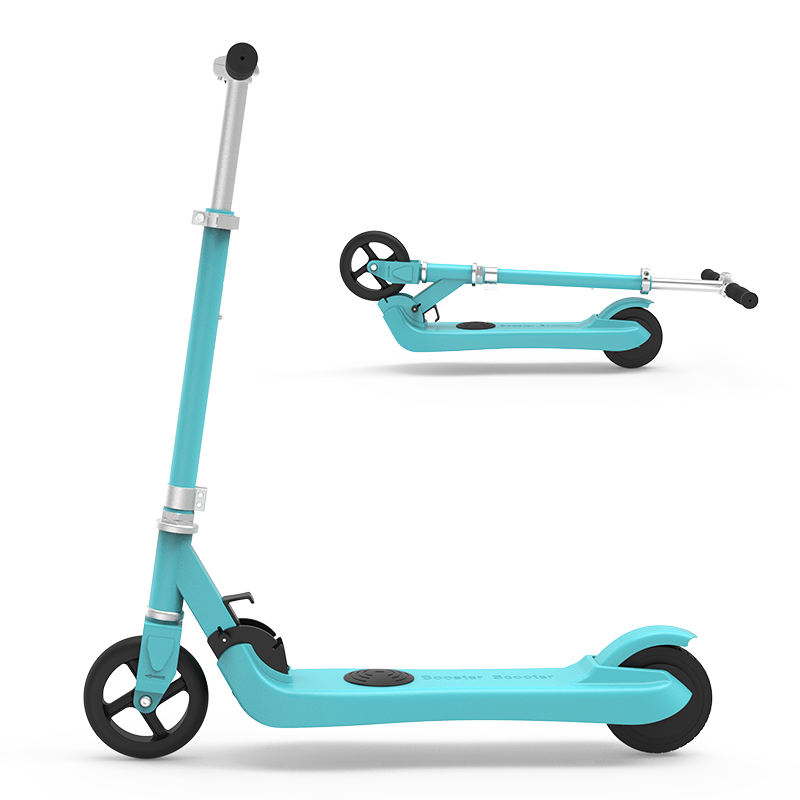 European warehouse free shipping 5 inch Two wheel folding kids kick start mini electric scooter for children