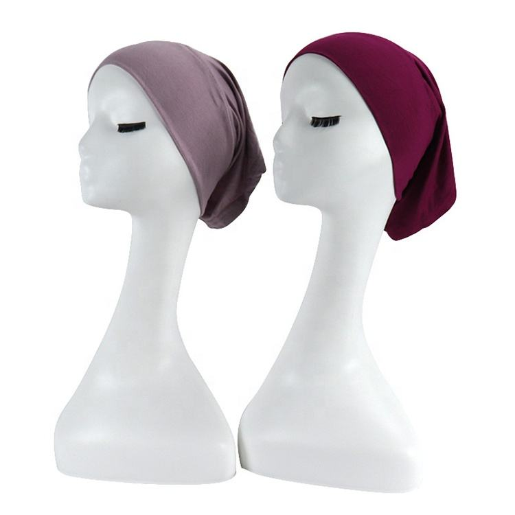 fashion ladies soft cotton jersey under scarf women hijab caps bone tube bonnet inner cap islaimc head cover muslim hijab hat
