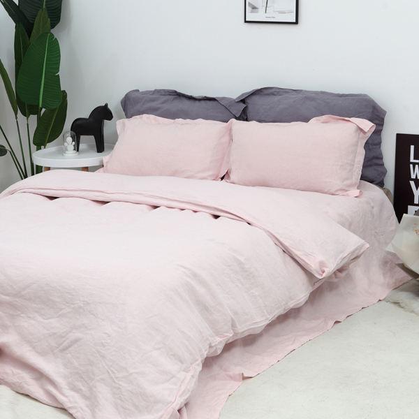 Literie en lin 100% pure plaine linge de maison tissu couette parure de lit draps housse de couette pour cadeau
