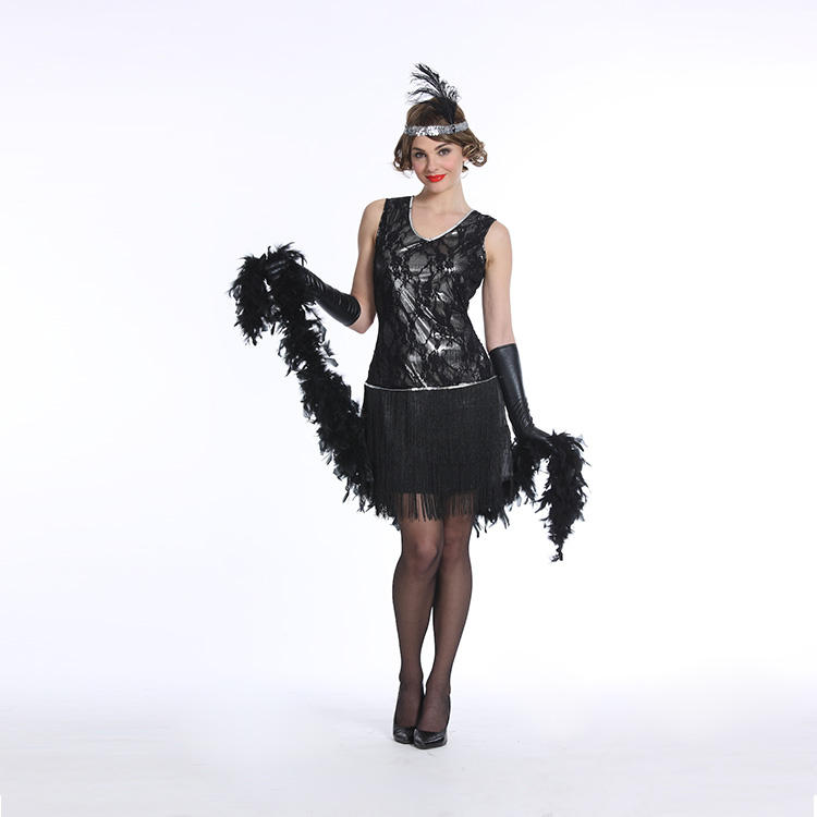 WX13-349 Silver Flapper Dresses 1920s Great Gatsby Cosplay Party Costume