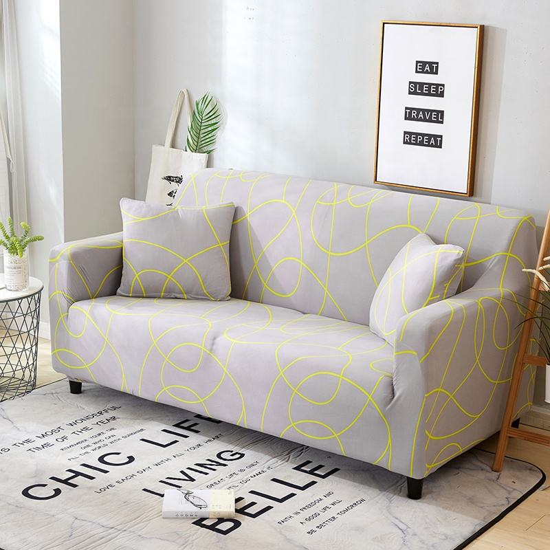 Nordic Stijl Eenvoudige Sofa Cover Amazon Aliexpress Hot Selling Stretch Hoes Huishouden Woonkamer Decoratie Couch Cover
