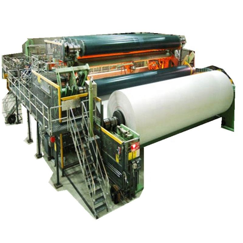 Paper Product Making Machinery Recycled Pulp Fourdrinier Culture Notebook Writing Printing Roll A4 Paper Production Machine Line