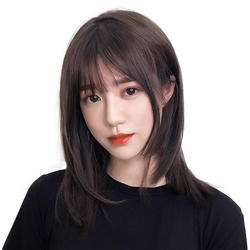 High temperature wire straight bob wig hair for women