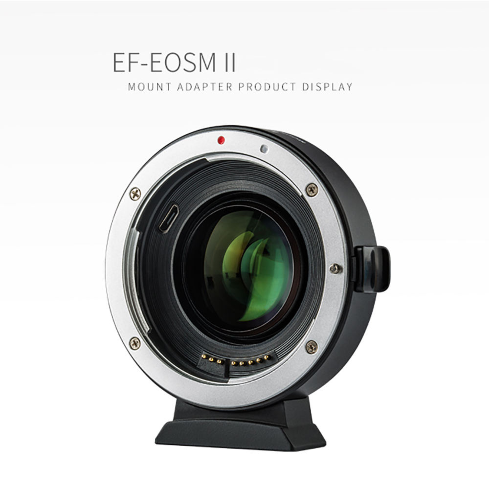 VILTROX Lens Adapter EF-EOSM II 0.71x Speed Booster for Canon EF lens to EOS EF-M Mirrorless Camera M50 AF Auto Focal Reducer