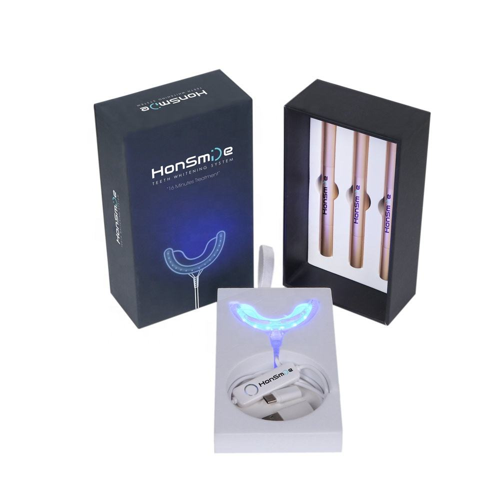 CE Disetujui Private Label Iphone USB Lampu Led Pemutihan Gigi Rumah Kit