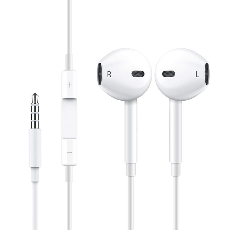 Original 3.5mm connectors earphones for iphone genuine stereo bass wired headphones in ear earbuds with mic headset for apple