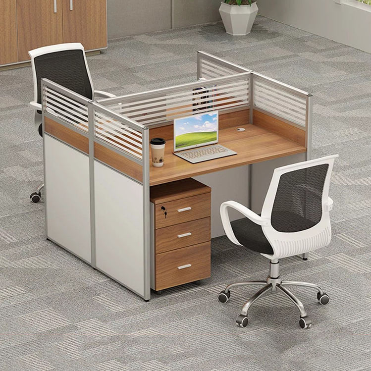 2 Orang Call Center Workstation dengan 3 Laci Kabinet