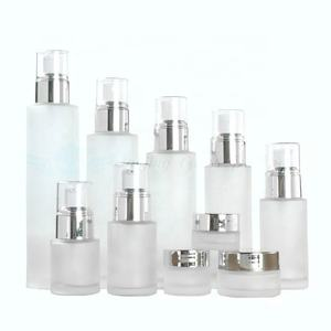 luxury Skin Care cosmetic empty glass bottle set packaging for sale