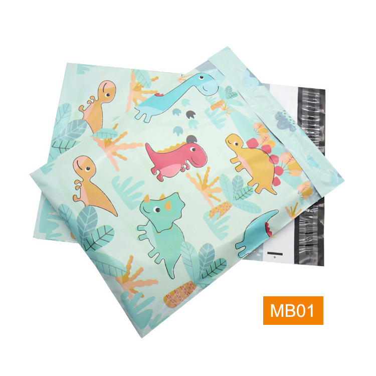 In Stock Self Seal Striped Flower Anti Static Patterned Designer Decorative Wholesale Mailing Poly Mailers Bags