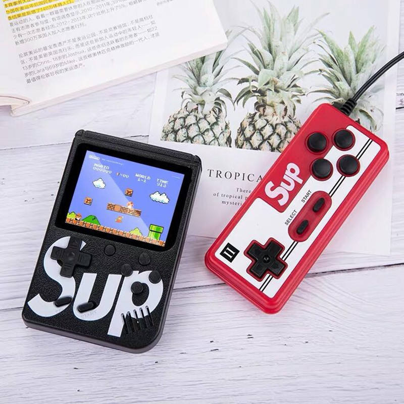 child gift Handheld Mini SUP Video AV Game Consoles Box 400 in 1 Double Player Game Consoles