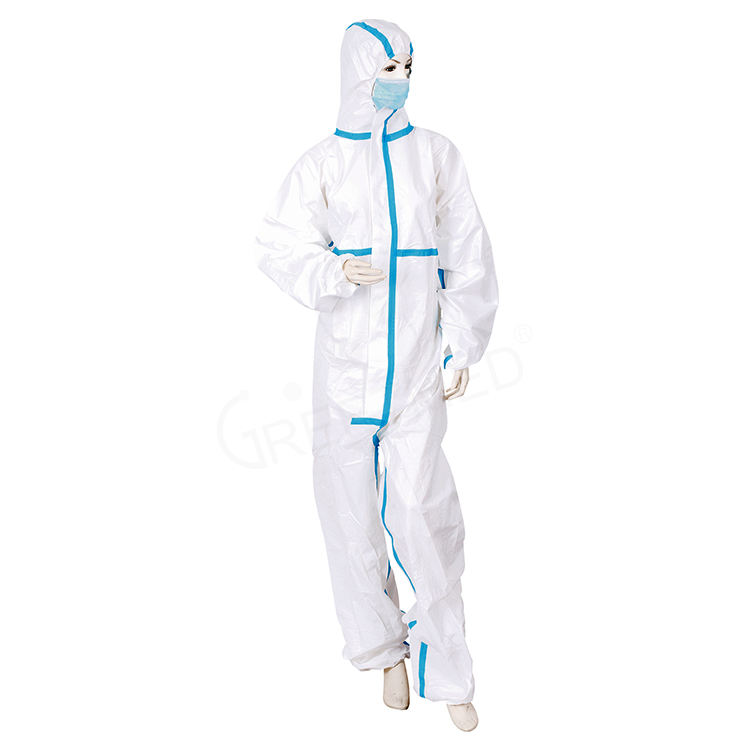 Safety personal waterproof hospital medical surgical antivirus disposable coverall protective clothing