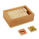 Wooden Domino GE096 NX Montessori Kids Wooden Educational Children Toy Traffic Sign Domino