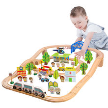 2020 hot sale educational preschool toy wooden magnetic train set for kids
