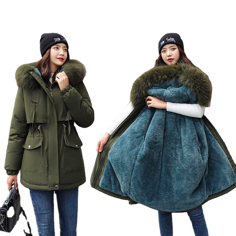 Winter Jacket Women Thick Warm Parka Hooded Cotton Coat Long Paragraph Plus Size 3xl Slim Jacket Women