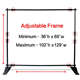 Adjustable Aluminum Trade Show Display Banner Stand, Photographic Backdrop Banner