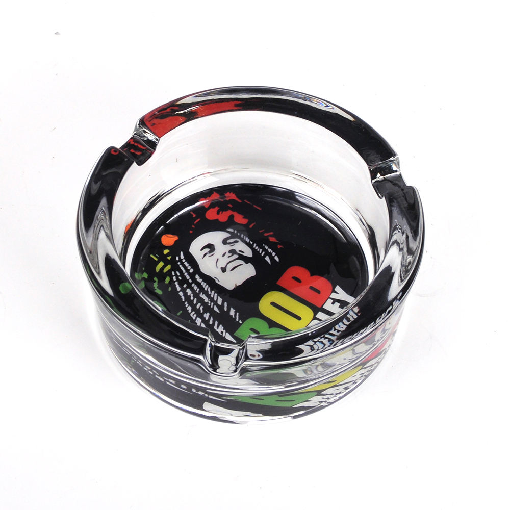 JL-003S Portable Custom Small Round Glass Ashtray for Cigarette Smoking