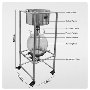 Cheap Price 10l 20l Stainless Steel Nutsch Filter/ Vacuum Filtration Apparatus For Laboratory