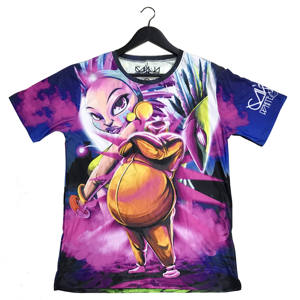 Sublimation T-Shirt Polyester Full Color Custom All Over Print T-Shirt