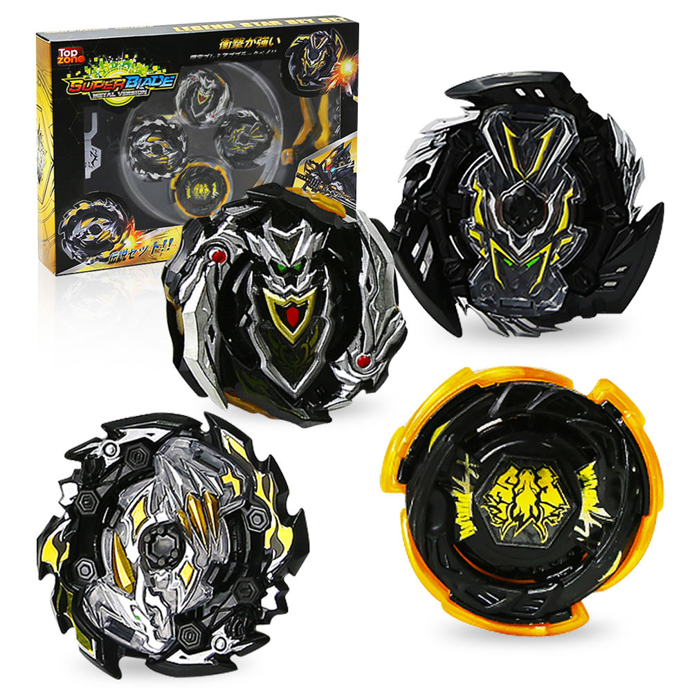 Black Gyro Toys for Kids Ingooood High Performance Tops Attack Set with Launcher Grip Starter Set Arena
