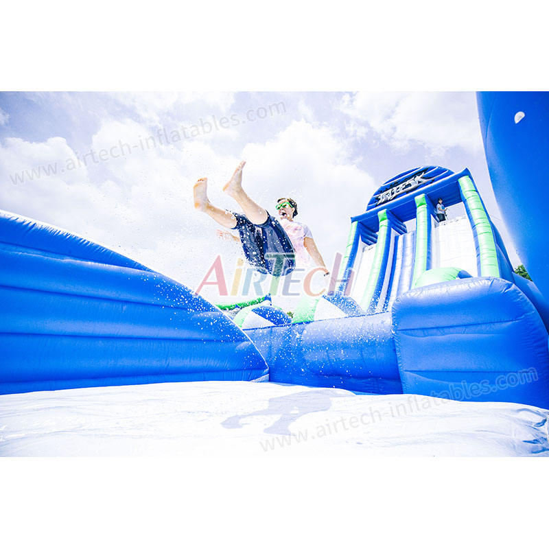 Hot Sale Gila Inflatable Drop Kick Air Slide untuk Dewasa