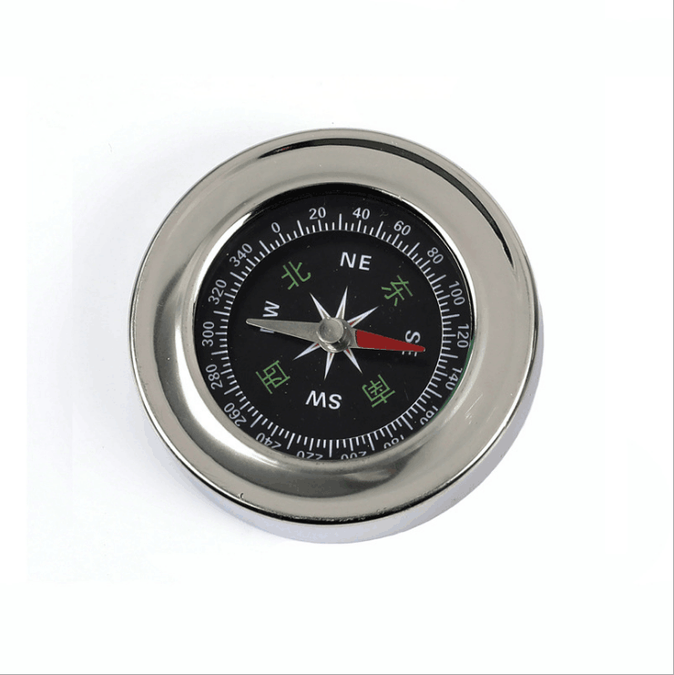 Gift Advertising Promotion Simple Outdoor Multifunction Round Metal Stainless Steel Compass