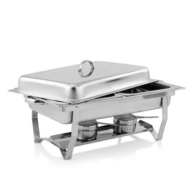 Wholesale Buffet Food Warmer Heater Chaffing Dishes Stainless Steel Foldable Chafing Dishes for Catering