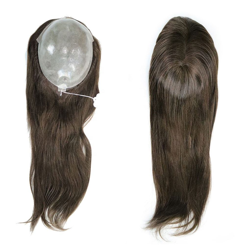 Stock human remy hair topper toupee for women all poly hair pieces