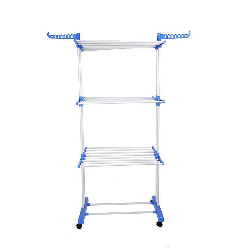 Customized Foldable 3 Tier Clothes Drying Collapsible Laundry Dryer Hanger Stand Indoor Outdoor Cloth Storage Rack