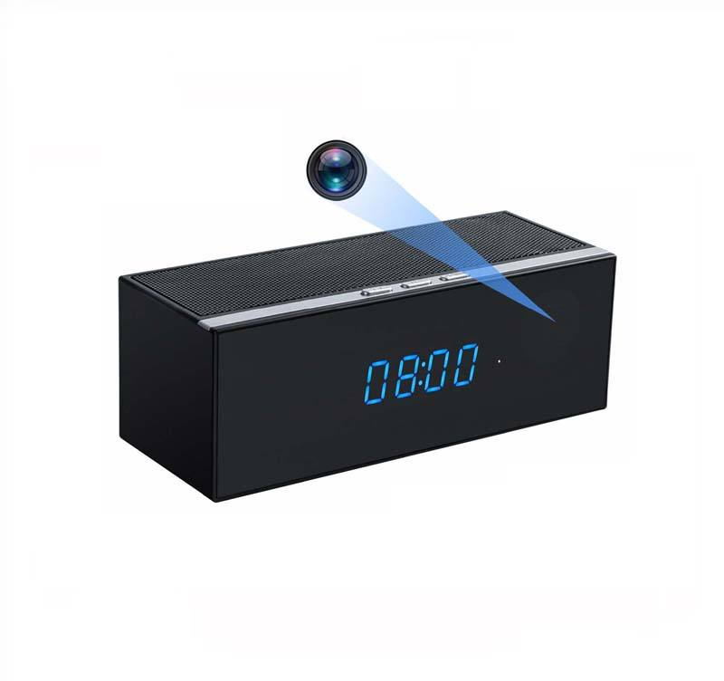 Bluetooth Speaker Mini Spy Camera Hidden Camera Alarm Clock Wifi Clock Camera