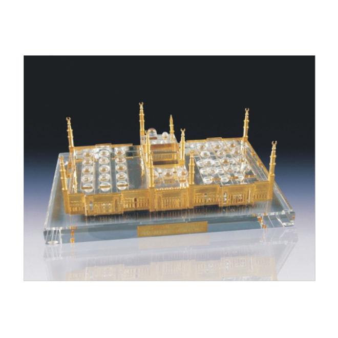 3D islamischen kristall geschenke madina moschee kristall gebäude modell handwerk für haus verzieren oder geschenke