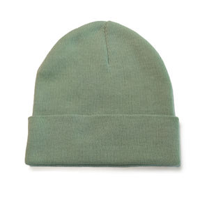 Winter wears solid color beanie recycled polyester knitted hat