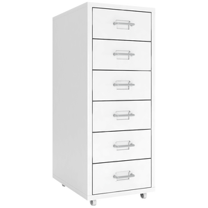 Widely Used Office Home metal Steel 6 Drawer Office File Storage Cabinet with wheels