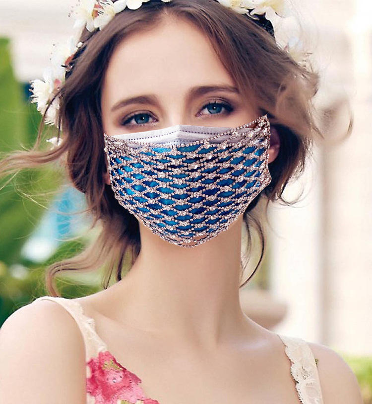 Diamond Face DIY Trend Diamond With Pearl Mesh Face Decoration Accessories Facial Jewelry