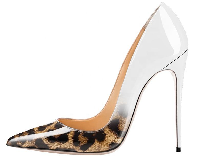 animal print new arrive 2020 12 custom pointed toe office lady high heel women's dress shoes