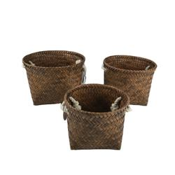 New Arrival Brown Portable Cloth PP Woven Storage Basket