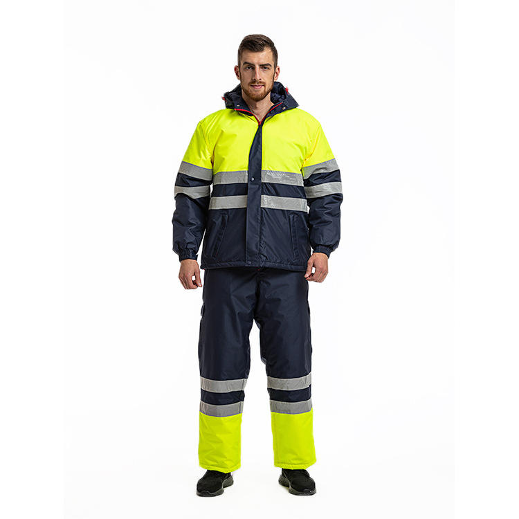 Wholesale Custom winter Workwear coverall Reflective Safety Work Hi Vis windproof cotton coveralls