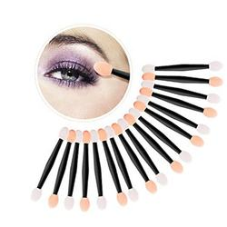 100 Pieces Disposable Dual Sided Eyeshadow Brush Double Ended Sponge 3 Inch Eye Shadow Makeup Applicator Oval Tipped Eyeliner