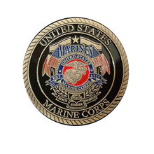 USMC Marine Corps Release The Dogs Of War Military Colorized Challenge Art Coin