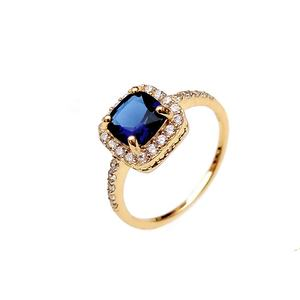 2020 Wholesale Custom Luxury Blue Sapphire 925 Sterling Silver Ring