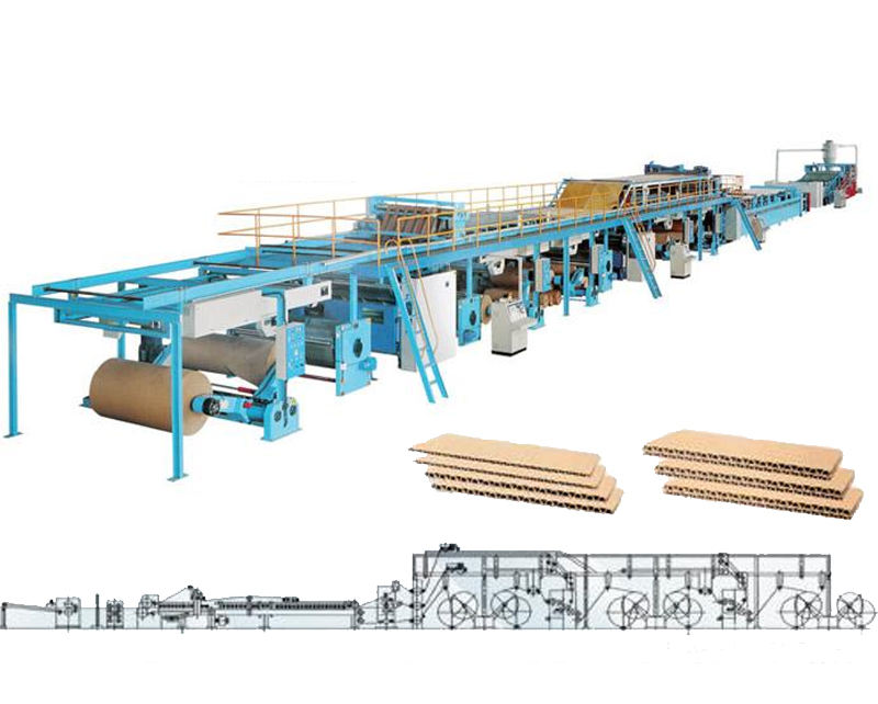 Automatic 3 5 7 corrugated cardboard making line/corrugated machine/carton box manufacturing plant