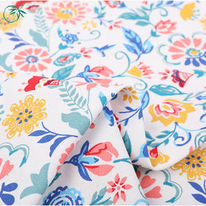 China supplier printed floral cotton fabric print canvas fabrics for pillows