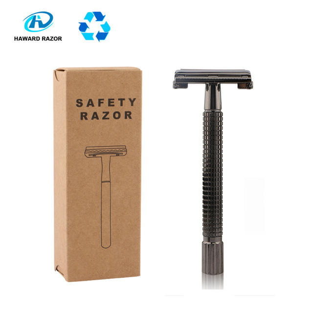 D642 Stainless Steel Metal handle Double Edge Blade Face Beard Shaving Razor Men's classical Safety Razor