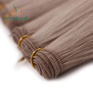Changshunfa Wholesale Double Drawn European Remy Human Hair Extensions Hand Tied Weft