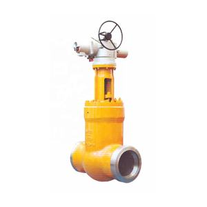 High temperature high-voltage power station cut-off valve
